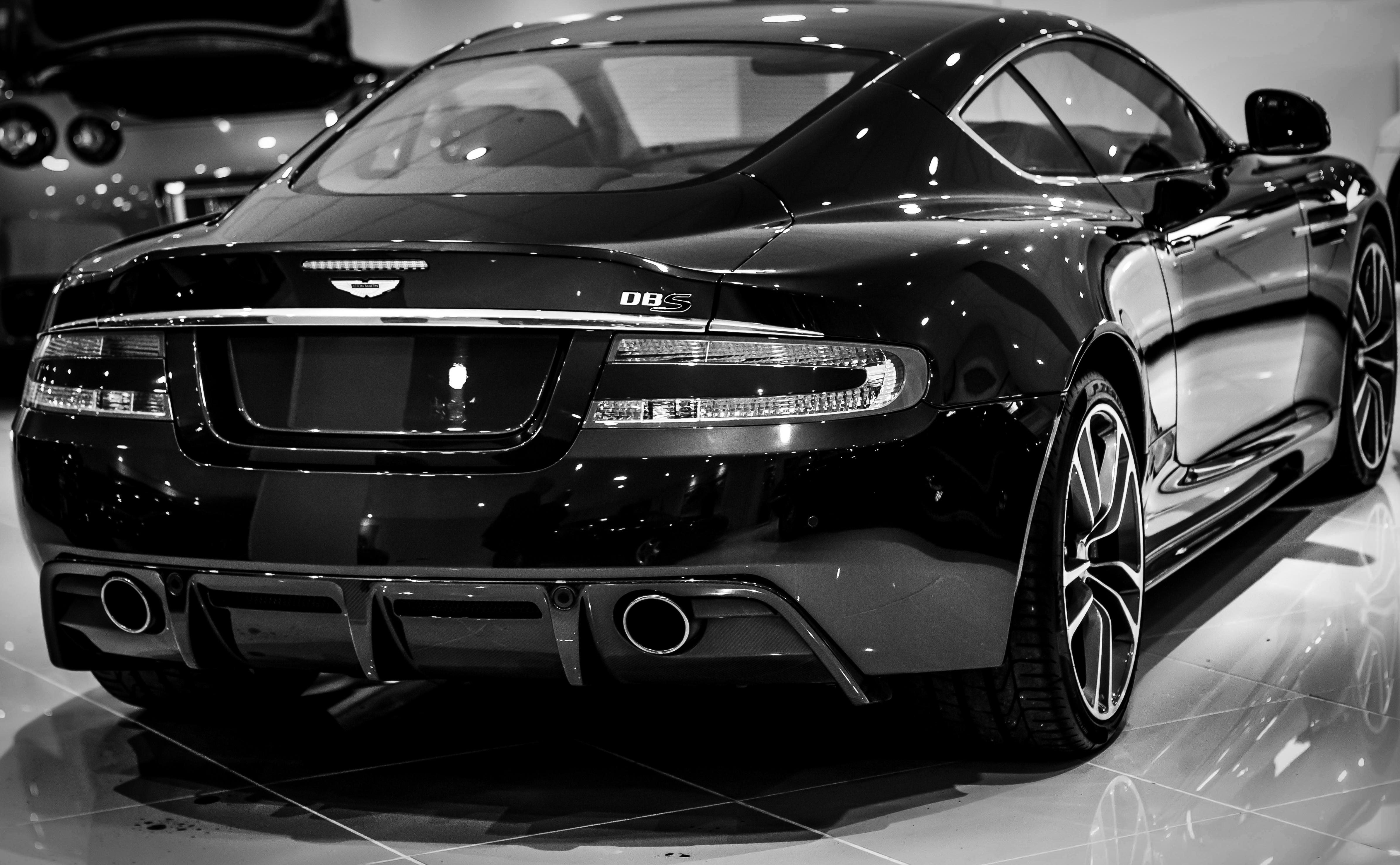 Aston Martin Car Black And White Free Image