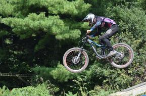 jumping mountain bike