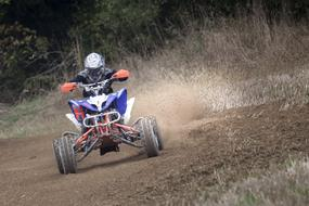 ATV competition in woodland