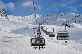 lift in the Alpine mountains