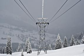 Snow Winter steel cable