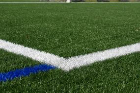 penalty area on the football field