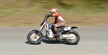 speed Hillclimb Motorbike