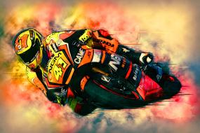 wallpaper with motorcycle racer