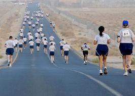 Running Marathon on Highway