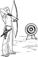 archery arrow bow shooting drawing