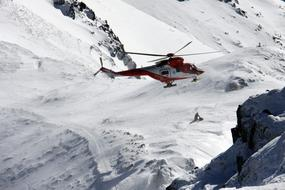 Snow Winter mountains helicopter