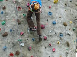 climbing wall with hooks