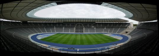 optical photo of the Olympic Stadium in Berlin