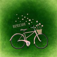 pink cycling healthy sport drawing