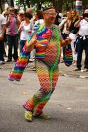 Colorful Rainbow person