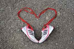 Sport Shoes Heart red