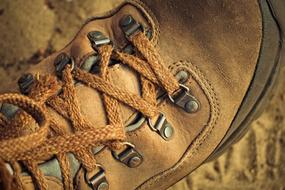 Hiking Shoes leather old