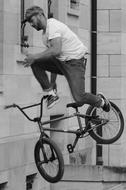 Bicycle Bmx Sports black and white
