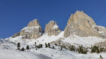 Dolomites mountains snow Italy