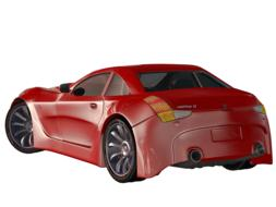 car red sports 3d drawing