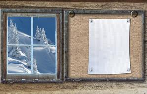 Bulletin Board Winter window
