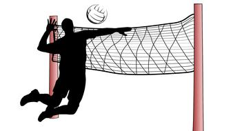 volleyball sports drawing