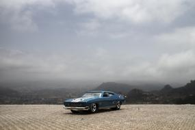 Muscle Car and white sky