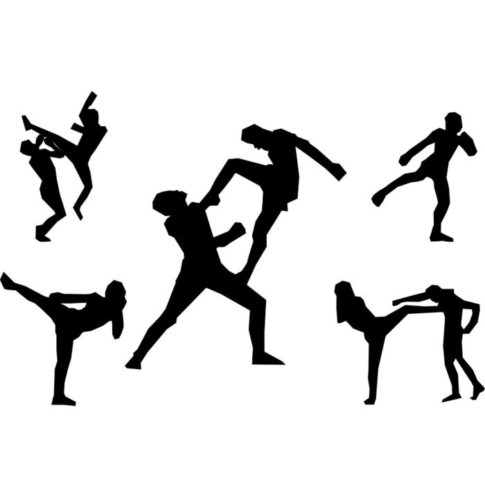 martial arts muay thai as a drawing