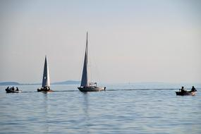Lake Balaton Ship Sailing