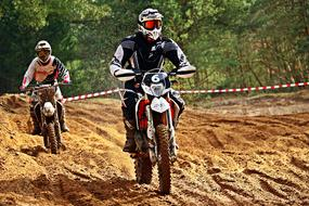 Motorcycle Enduro on the sand