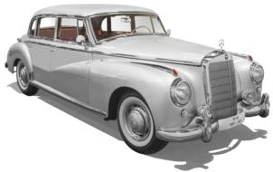 clipart of Mercedes Benz W186