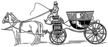 stagecoach carriage horse drawing