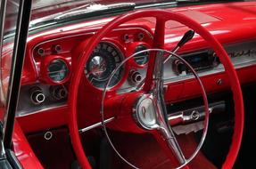 red Chevrolet Dashboard