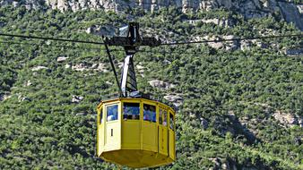 Cable Car at mountain slope