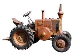 old Tractor Agriculture drawing