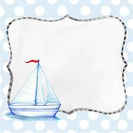 ship background boat blue boy drawing