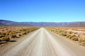 empty Gravel Road in desert, south africa, Karoo