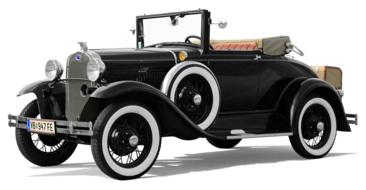 black ford cabriolet coupe car