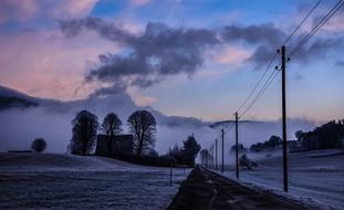 delightful Winter Dawn Landscape