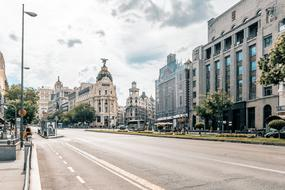photo of the main street in Madrid