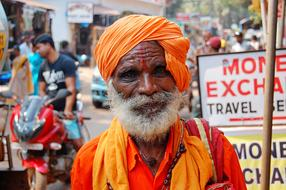 indian Old Man Turban