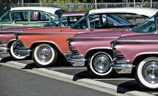 vintage Buick Cars on parking