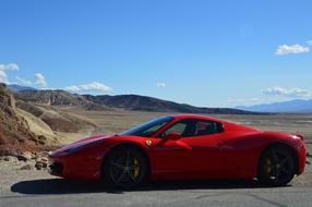 red Ferrari Death Valley