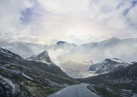 very beautiful Norway Mountains