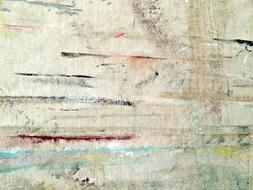 Abstract Painting on white grunge surface