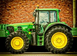 Tractor Vehicle green