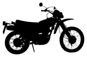 motorcycle motorbike black