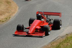 Single Seater Race red Car
