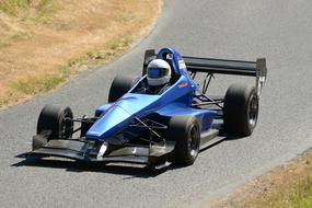 Single Seater Race Car blue