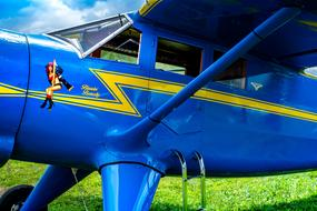 blue High Wing Airplane