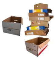 Carton Boxes in stack