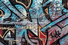 Background Abstract Graffiti drawing