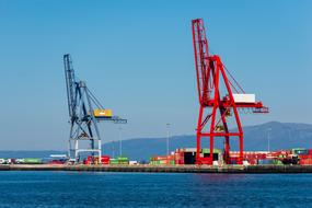 delightful Port Cranes and Containers