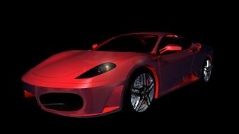 Ferrari F430 Sports Car drawing